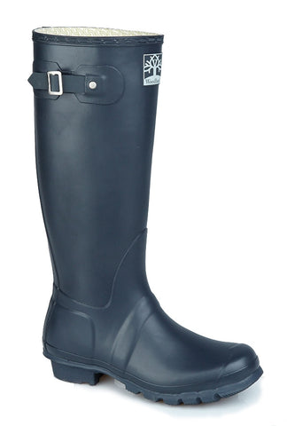 Woodland side buckle rubber wellingtons -  Regular Fitting Premium Quality Unisex Wellingtons in Navy