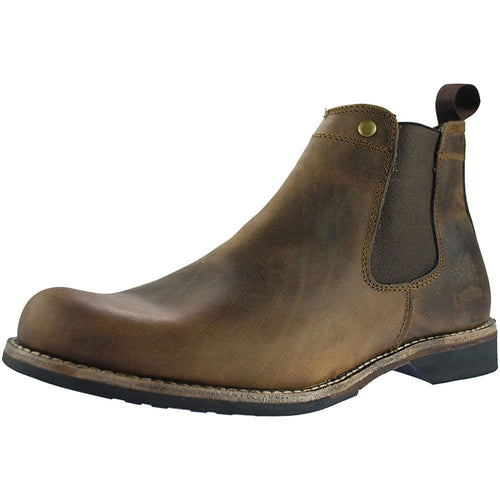 Woodland Crazy Horse Leather Chelsea Pull On Boot
