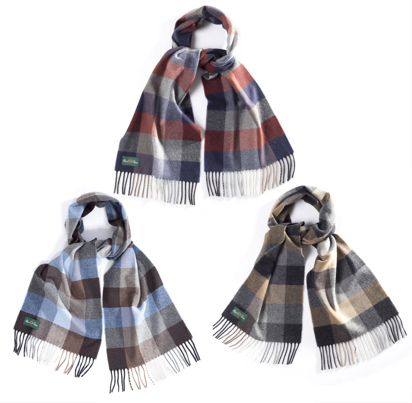 Alan Paine Multi-Colour Check Scarf