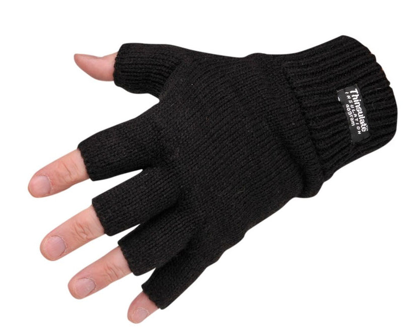 keep your fingers free Fingerless Thinsulate Knitted Gloves