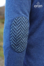 Fancy elbow patch in wool