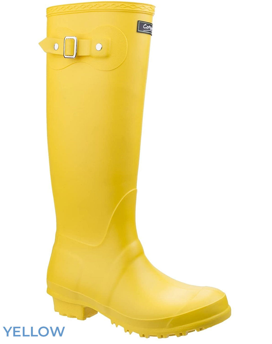 Yellow Cotswold Sandringham Buckle Strap Wellingtons