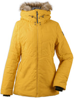 Didriksons Ladies Nana Quilted Jacket - Oat Yellow