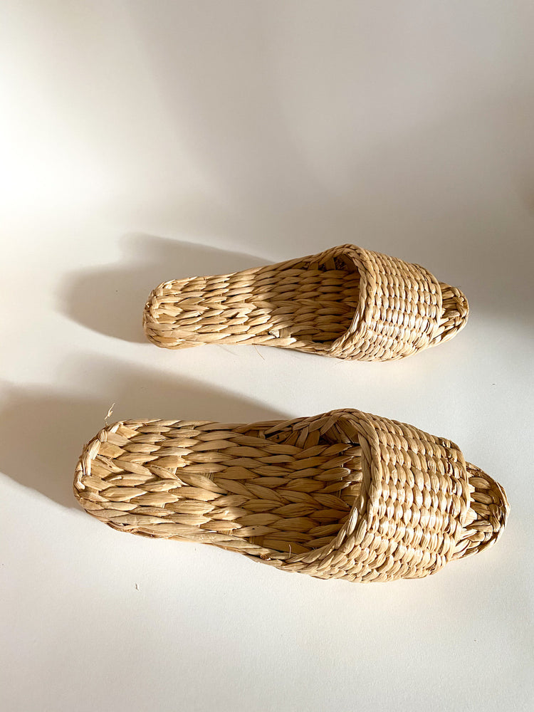 Straw Sandal Slipper