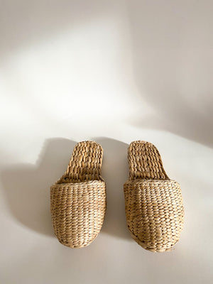 Natural Straw Slippers