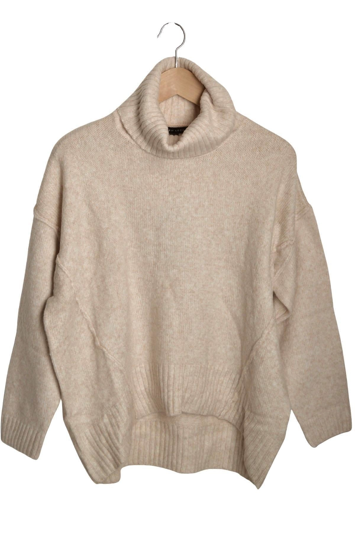 New Look Ex New Look Roll Neck Oversize Jumper | S / Beige Secret Label
