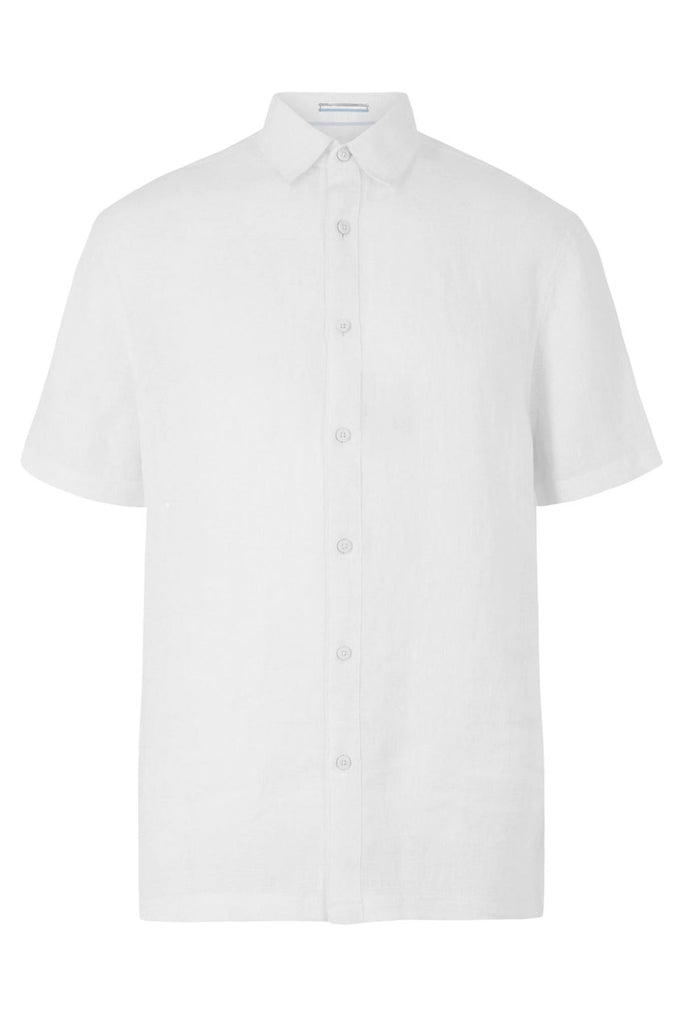 Blue Harbour Short Sleeve Linen Shirt