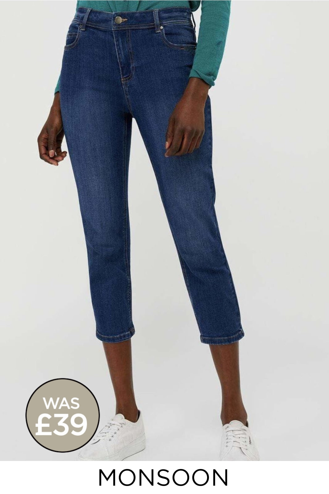 Monsoon Ex Monsoon Monsoon 'Idabella' Capri Jeans | 8 / Denim Secret Label