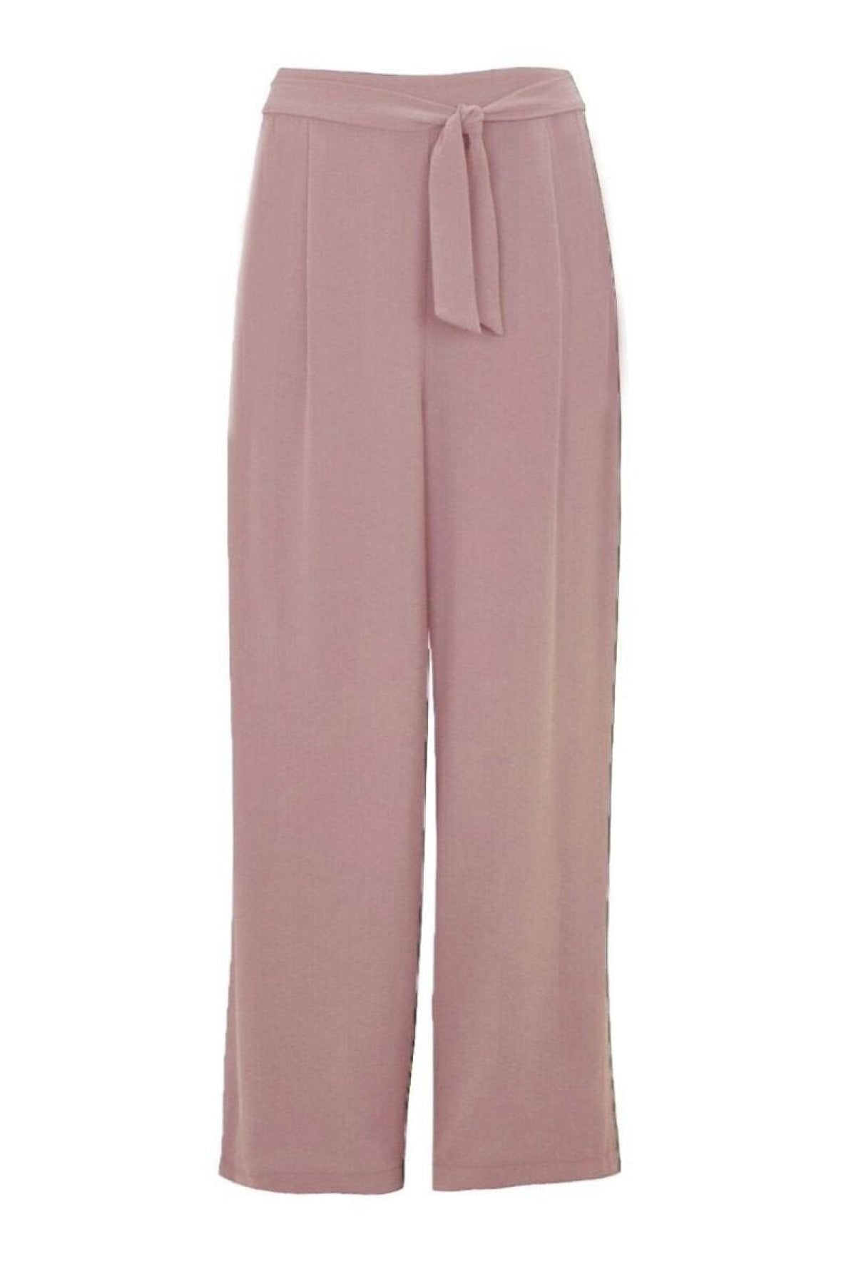 Evans Ex Evans Wide Leg Tie Front Trousers | Secret Label