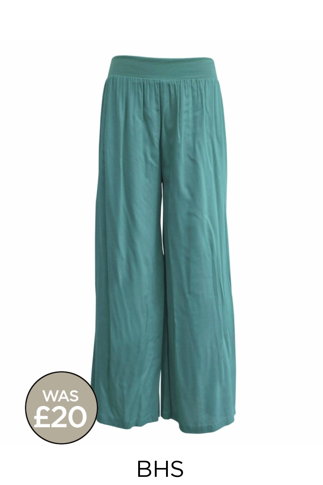 BHS Wide Leg Palazzo Trousers | S / Green Secret Label