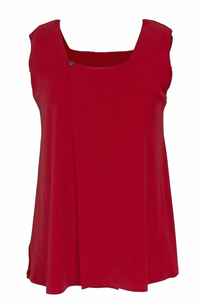 Sleeveless Square Neck Swing Top