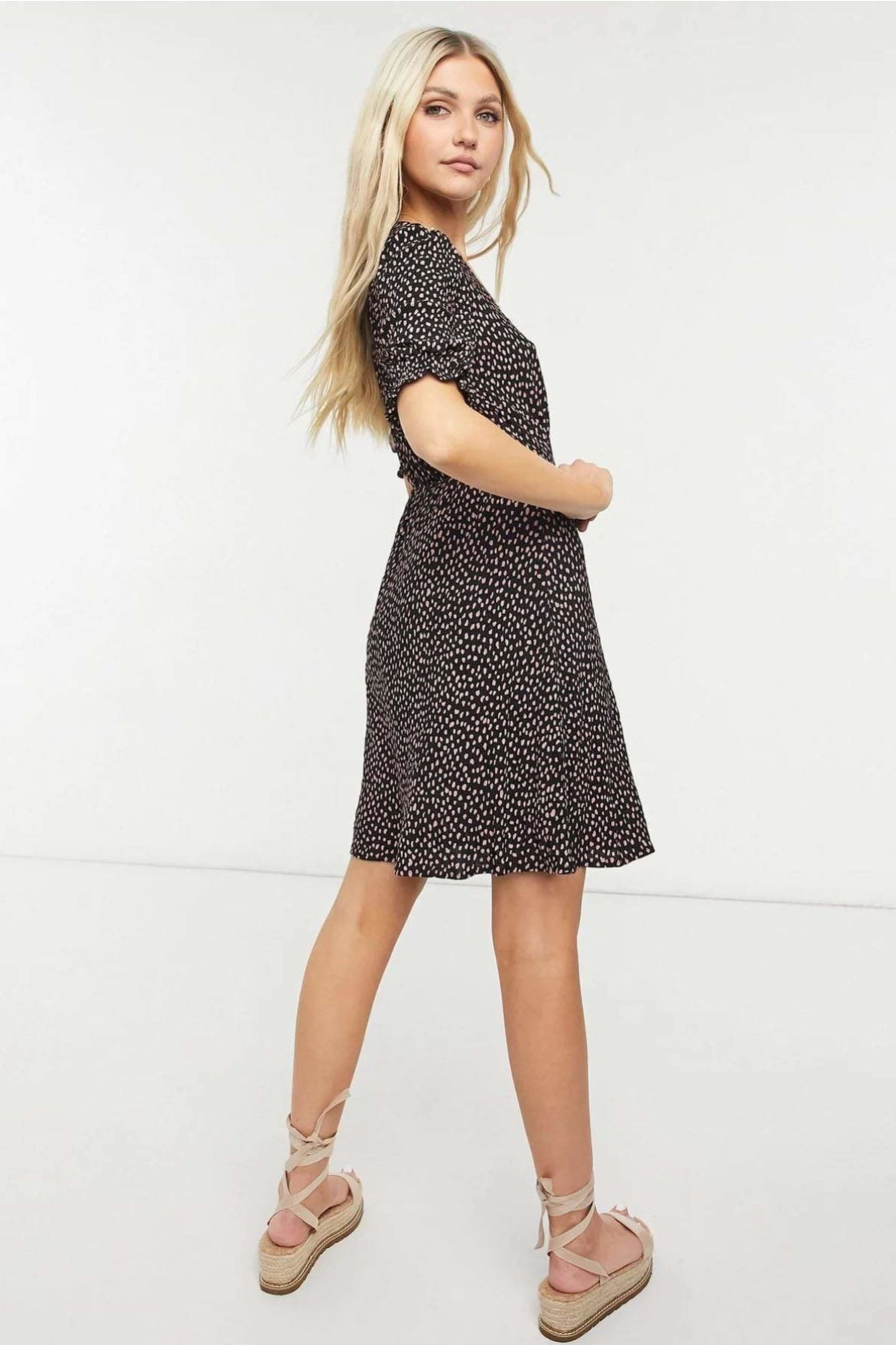 Oasis Pink Black Spot Summer Dress | Secret Label