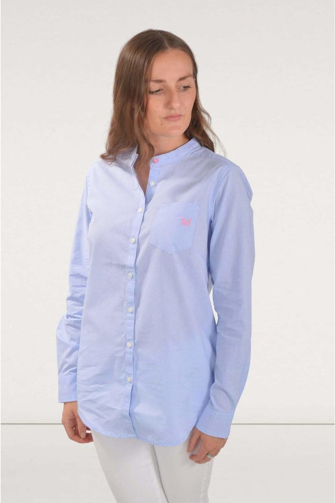 Blue Chambray A Line Shirt