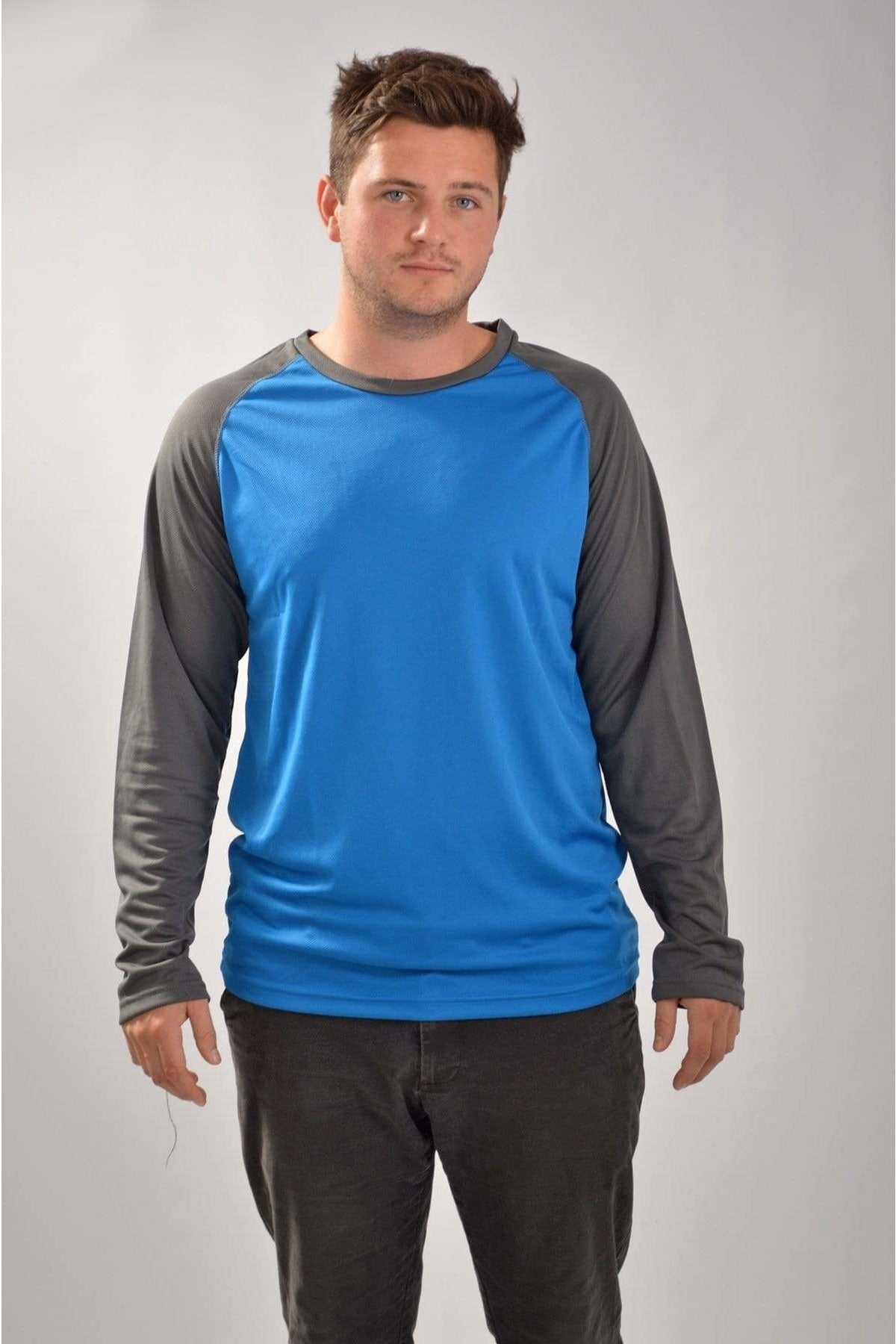 Mountain Warehouse Two Tone Long Sleeve Active Top | XS / Blue/Grey Secret Label