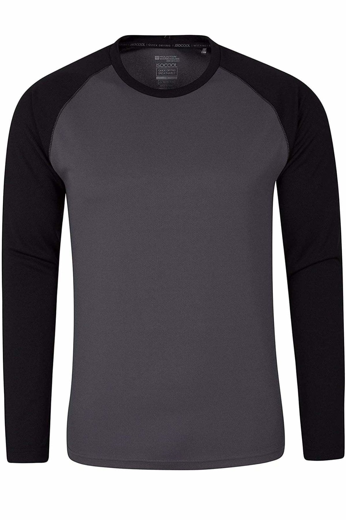 Mountain Warehouse Two Tone Long Sleeve Active Top | S / Grey/Black Secret Label