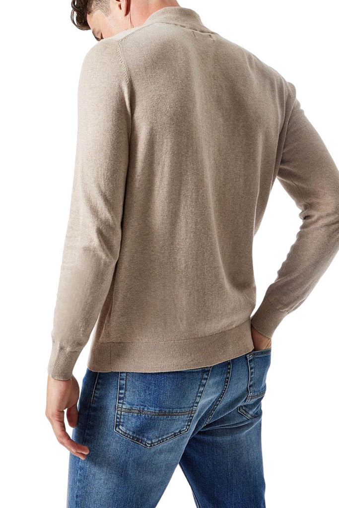 Cotton Quarter Zip Jumper