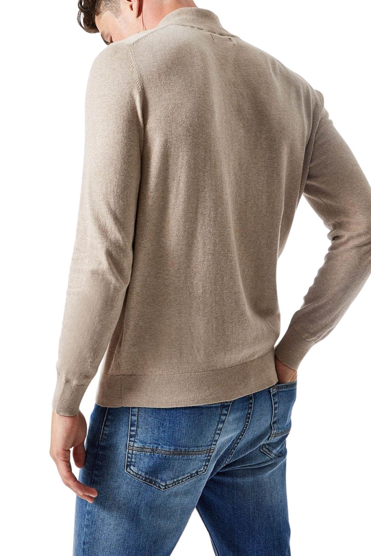 Burton Cotton Quarter Zip Jumper | M / Natural Secret Label