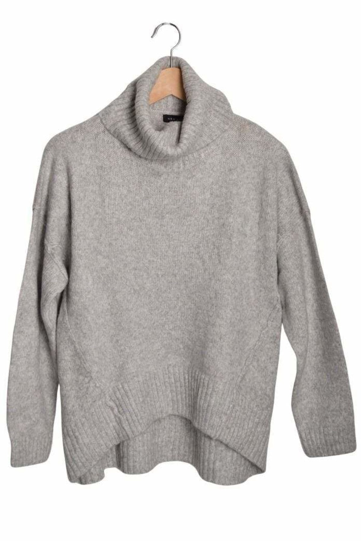 New Look Ex New Look Roll Neck Oversize Jumper | L / Grey Secret Label