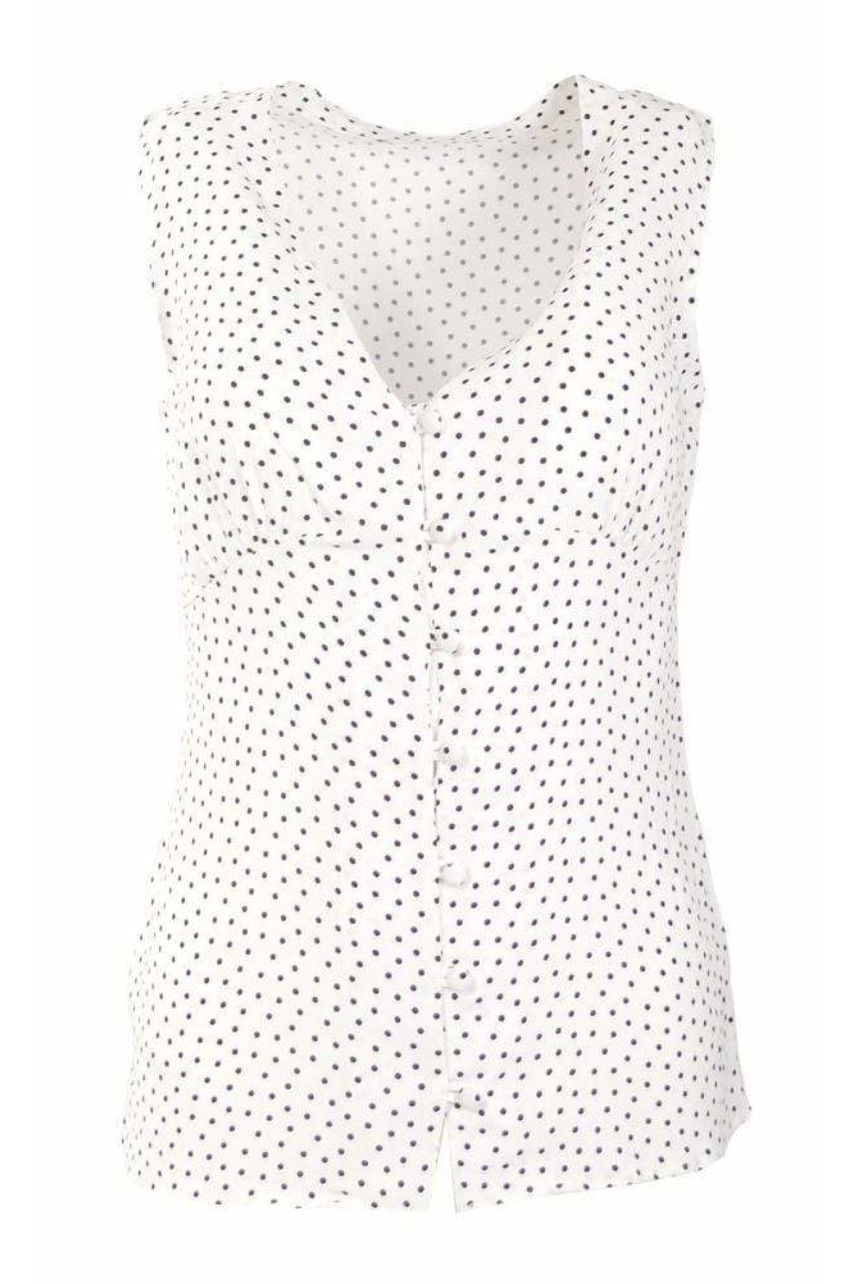 Next Ex Next Sleeveless Button Front Fitted Blouse | Secret Label