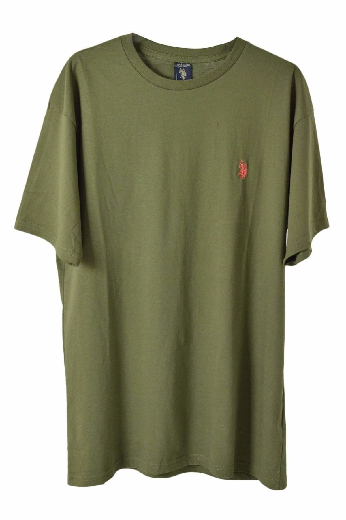 US Polo Assn. US Polo Assn. Cotton Crew Neck T-Shirt | Small / Khaki Secret Label