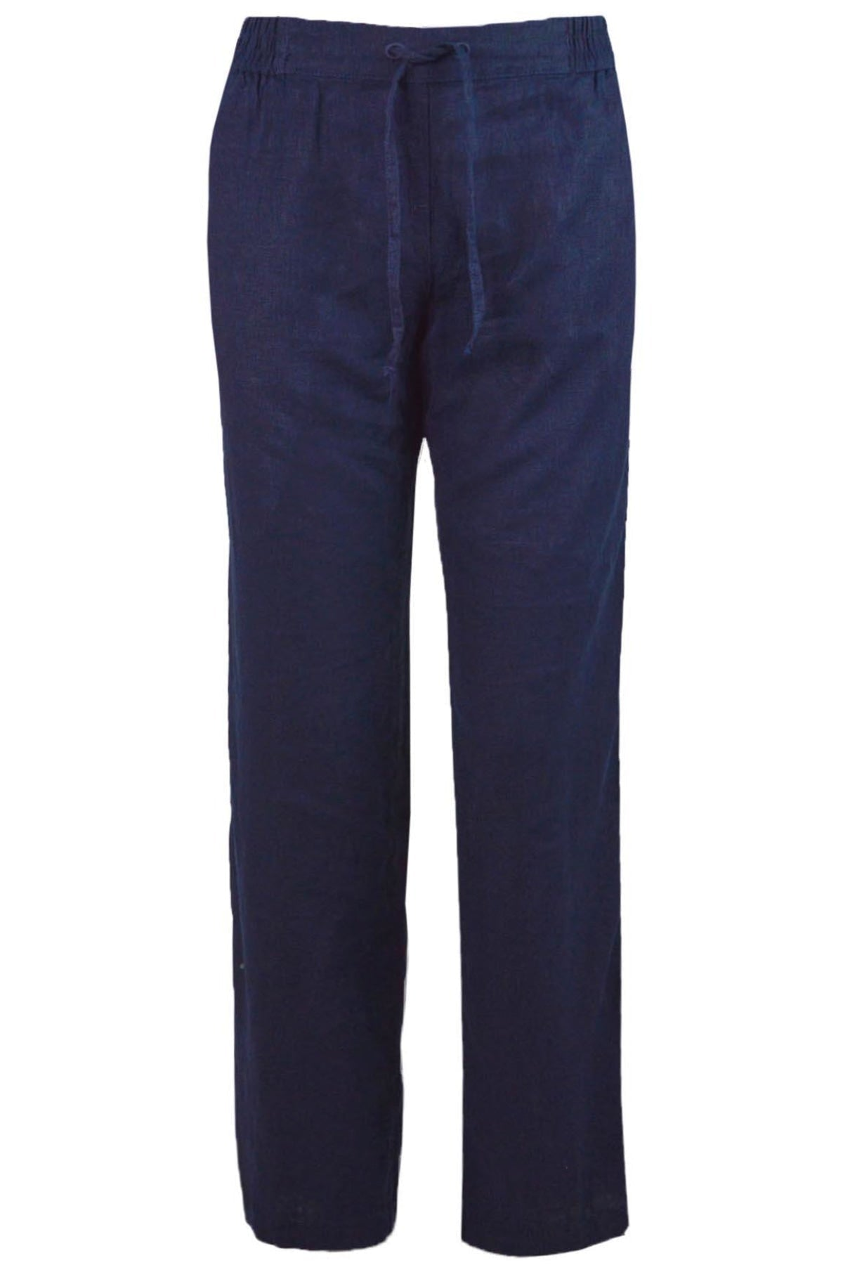 Next Ex Next Wide Leg Linen Trousers Stretch Waist | Secret Label