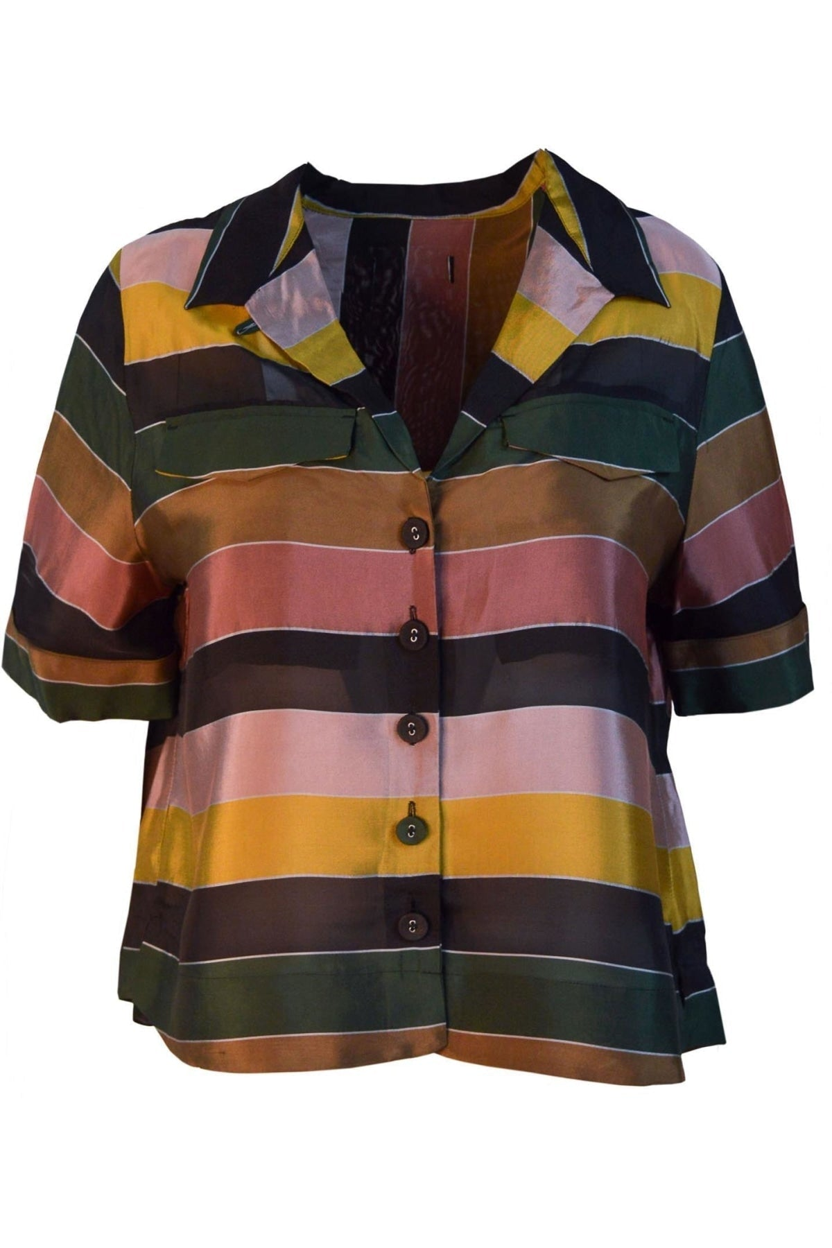Marks & Spencer Multicolour Striped Boxy Shirt | 6 / Multicolour Stripe Secret Label