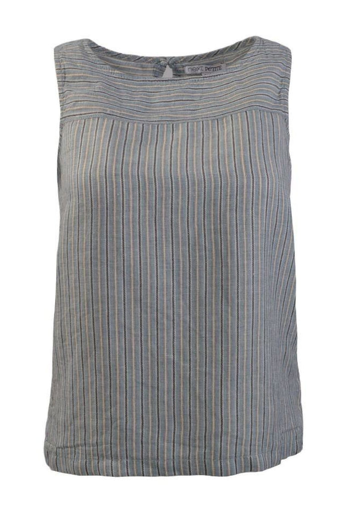 Sleeveless Linen Boxy Top