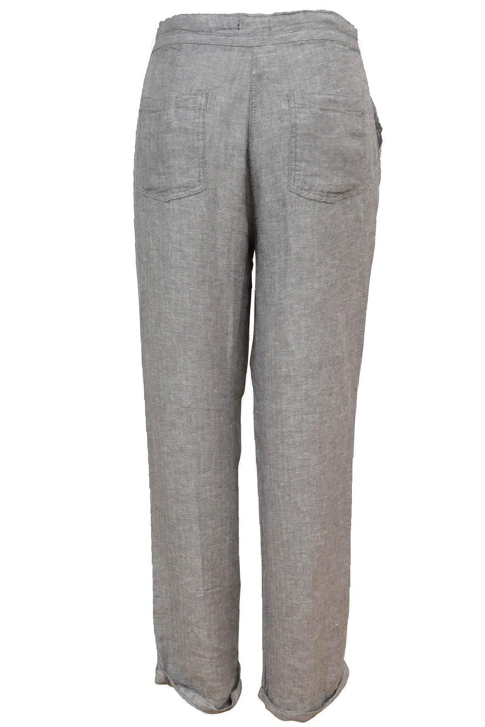 Textured Linen Taper Trousers