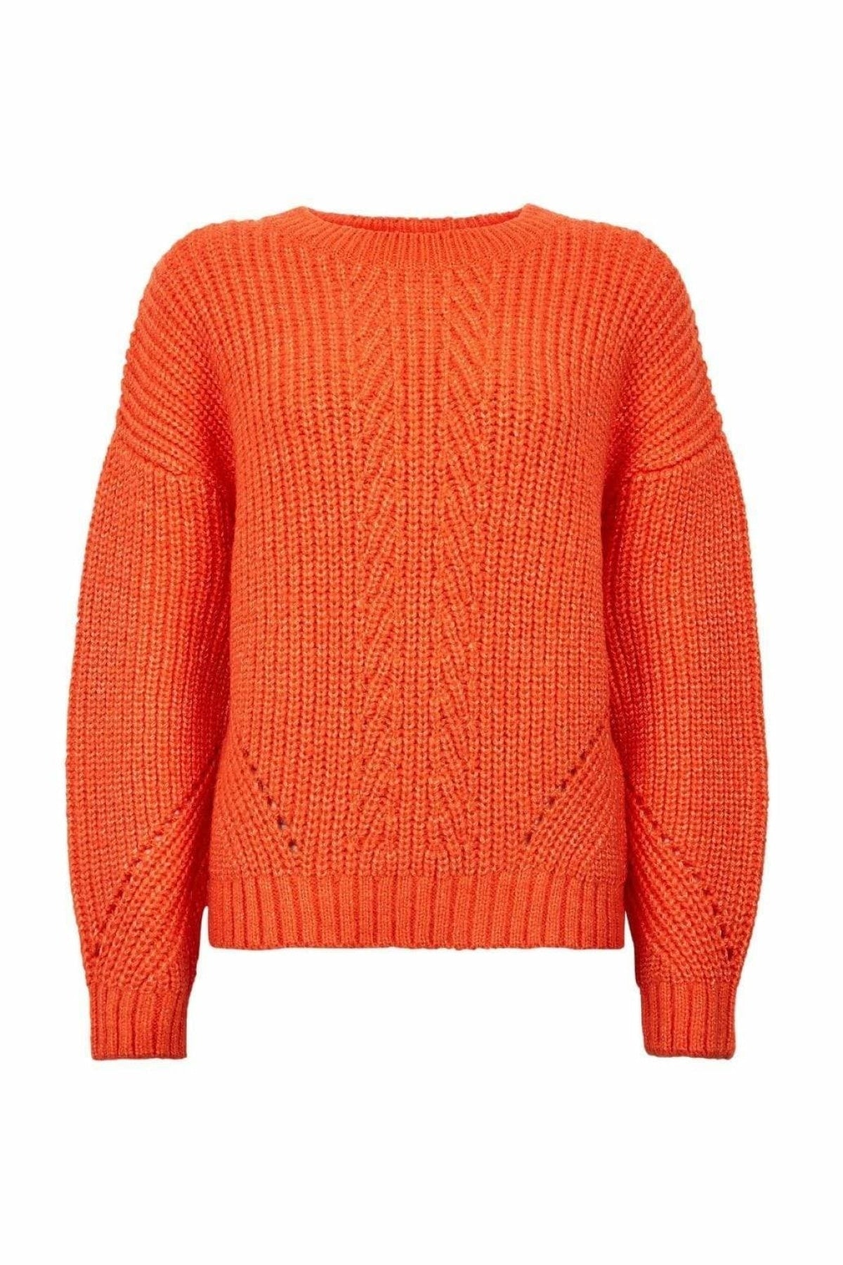 Dorothy Perkins Ex Dorothy Perkins Pointelle Stitch Jumper | XL / Orange Secret Label