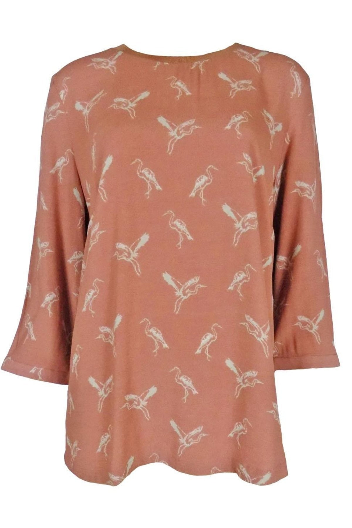 Secret Label Terracotta Heron Print Tunic Top | Secret Label
