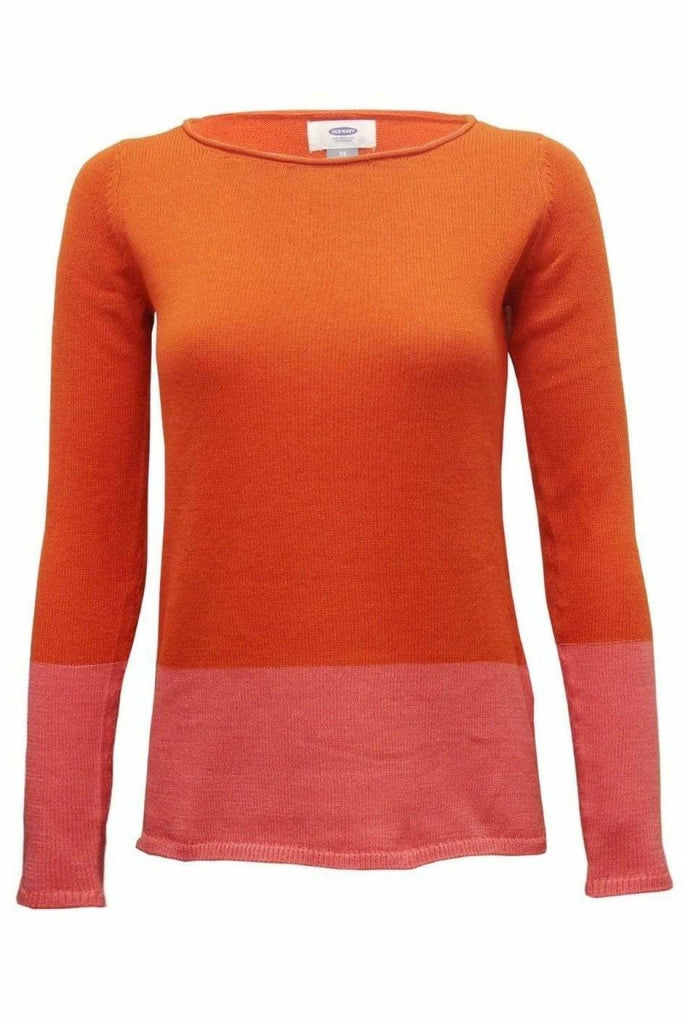 Roll Neck Block Colour Jumper