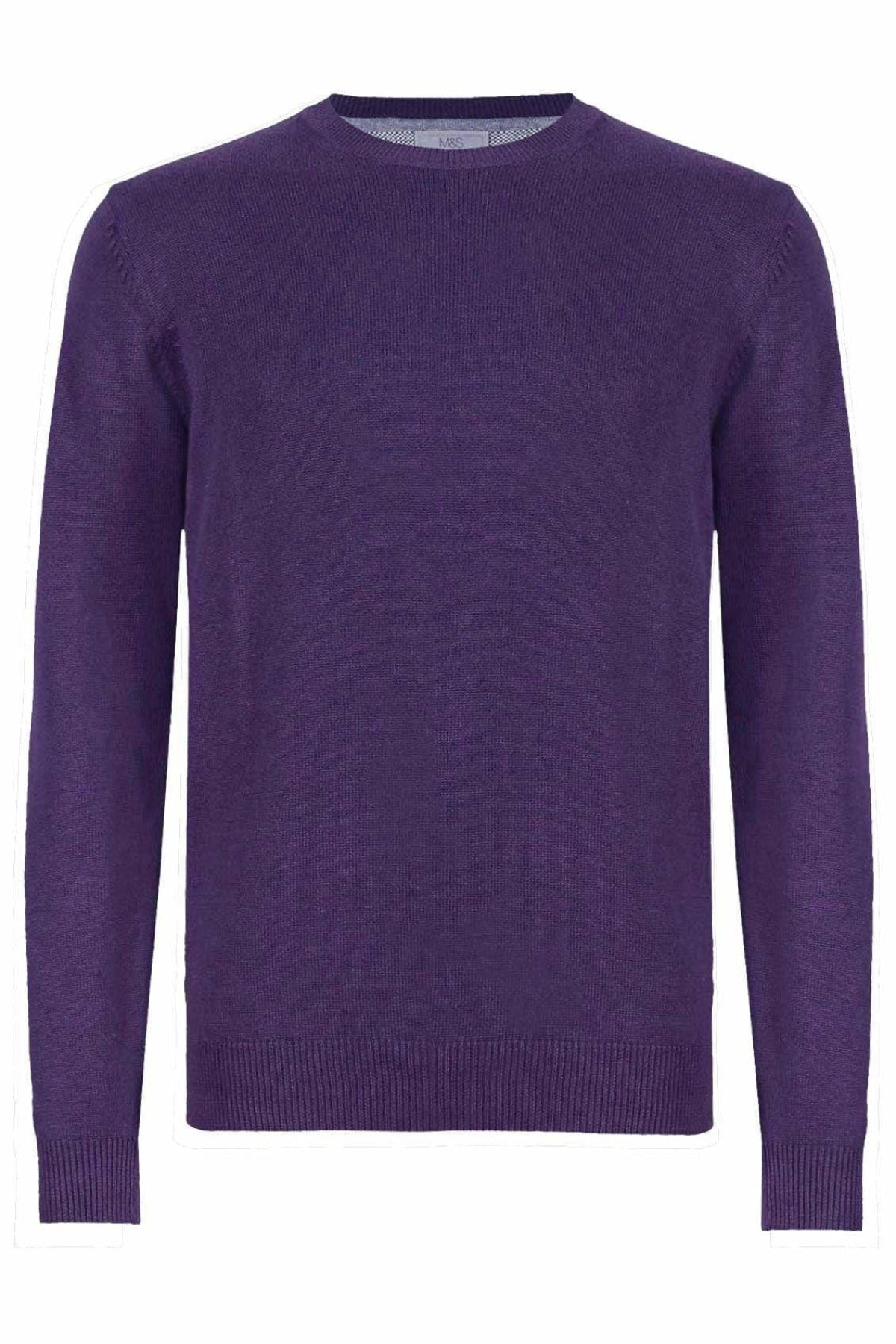 Marks & Spencer Crew Neck Pure Cotton Jumper | S / Purple Secret Label