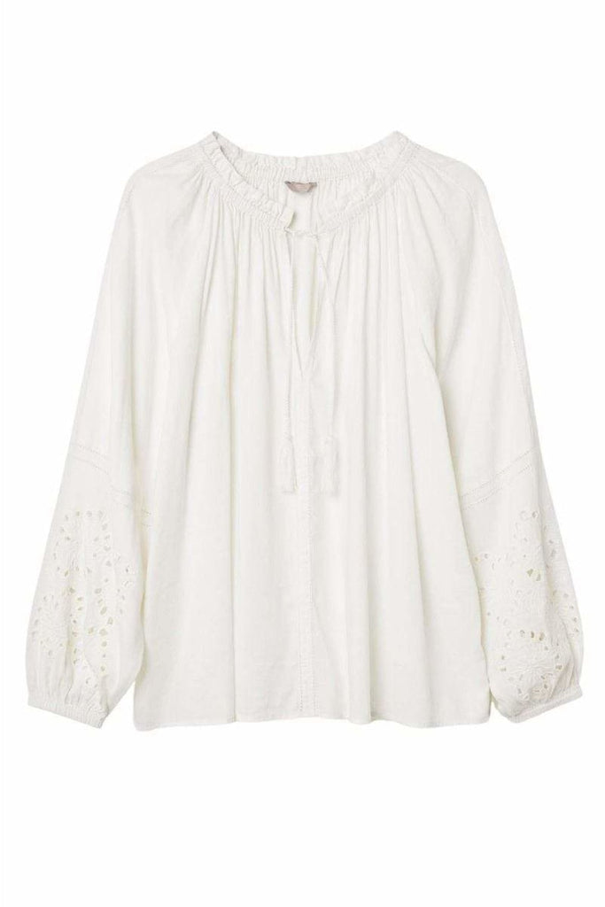 Embroidered Cotton Boho Blouse