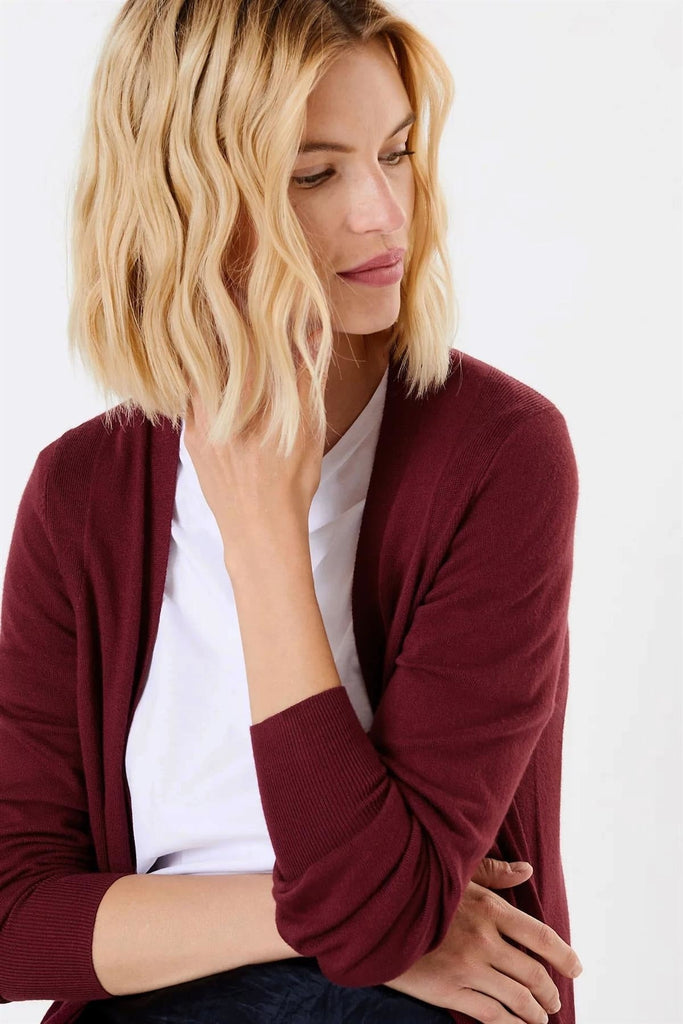 Open Front Patch Pocket Cardigan