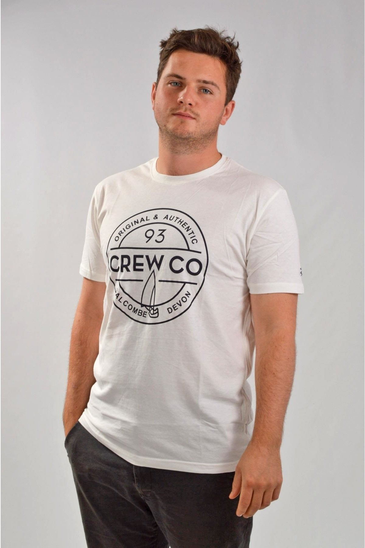 Crew Clothing Mens Crew Logo T Shirts | XL / Ivory (Original) Secret Label