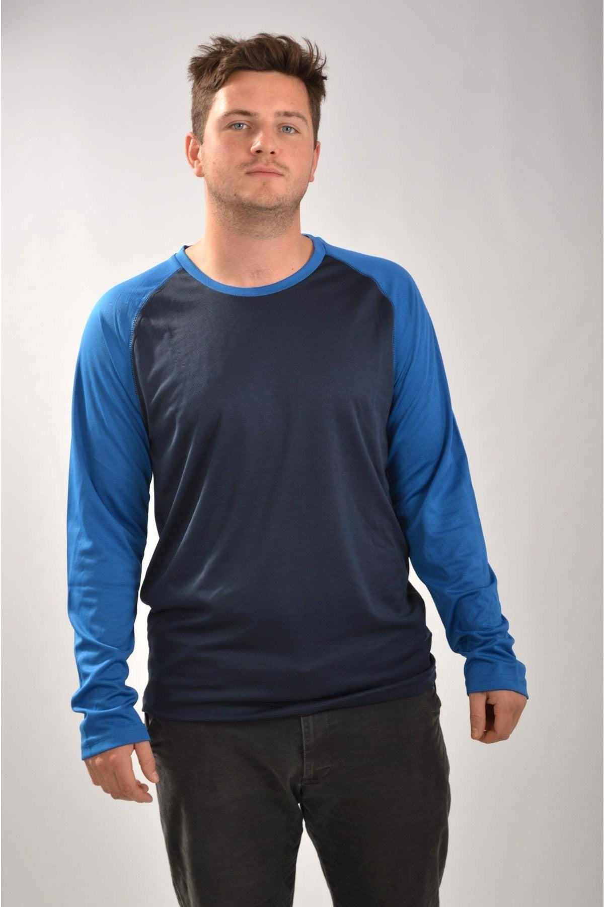Mountain Warehouse Two Tone Long Sleeve Active Top | XS / Navy/Blue Secret Label