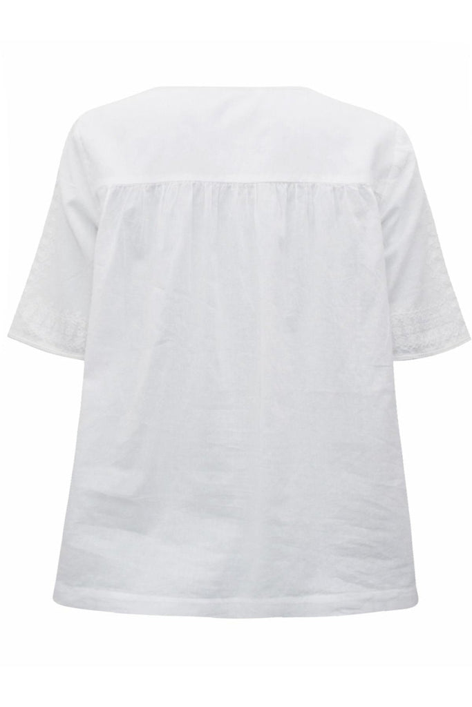 Pure Cotton 'Alice' Embroidered Top