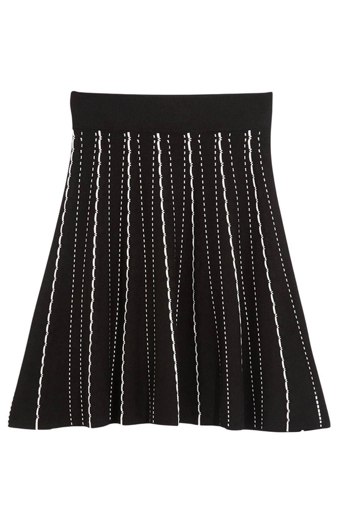 Stitch Stripe Skater Skirt