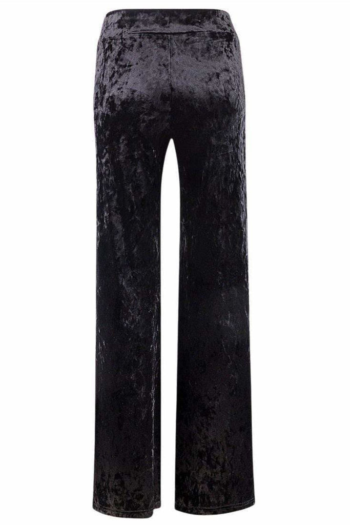 Wide Leg Crushed Velvet Trousers