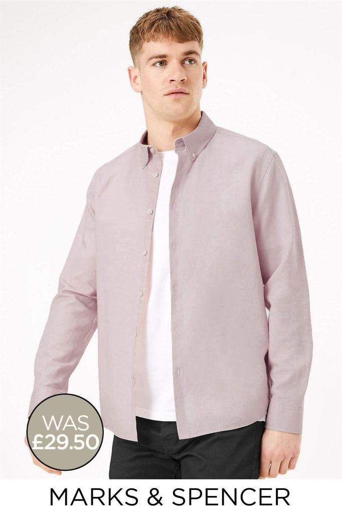 Linen Shirt Button Down Collar