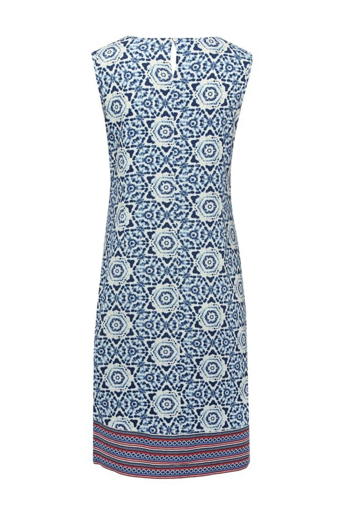 M&Co Ex M&Co Blue Mix Tile Print Shift Dress | Secret Label