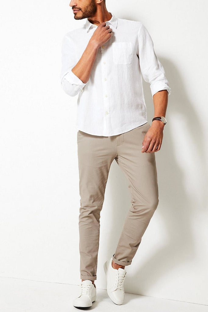 Relaxed Linen Shirt with Pocket