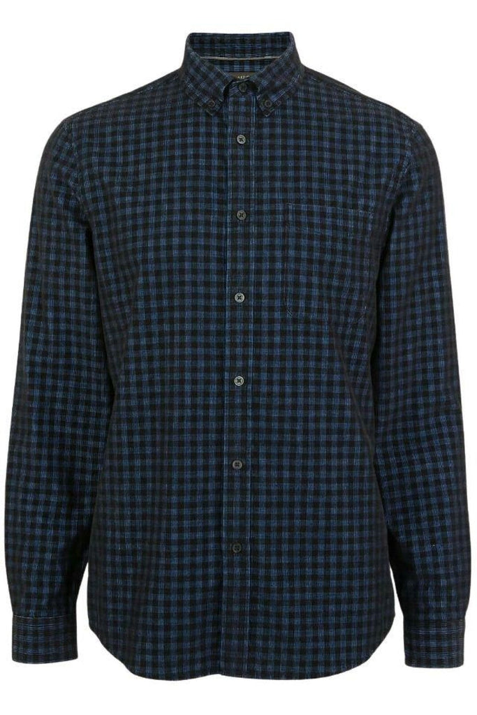 Mens Needlecord Check Shirt