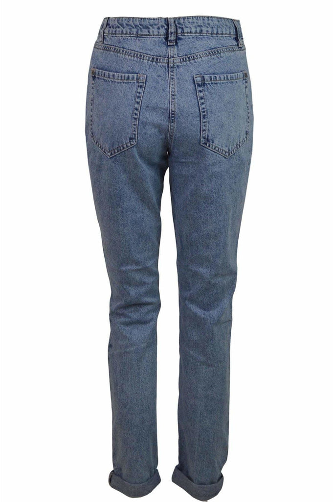 Relaxed Acid Wash Mom Jeans