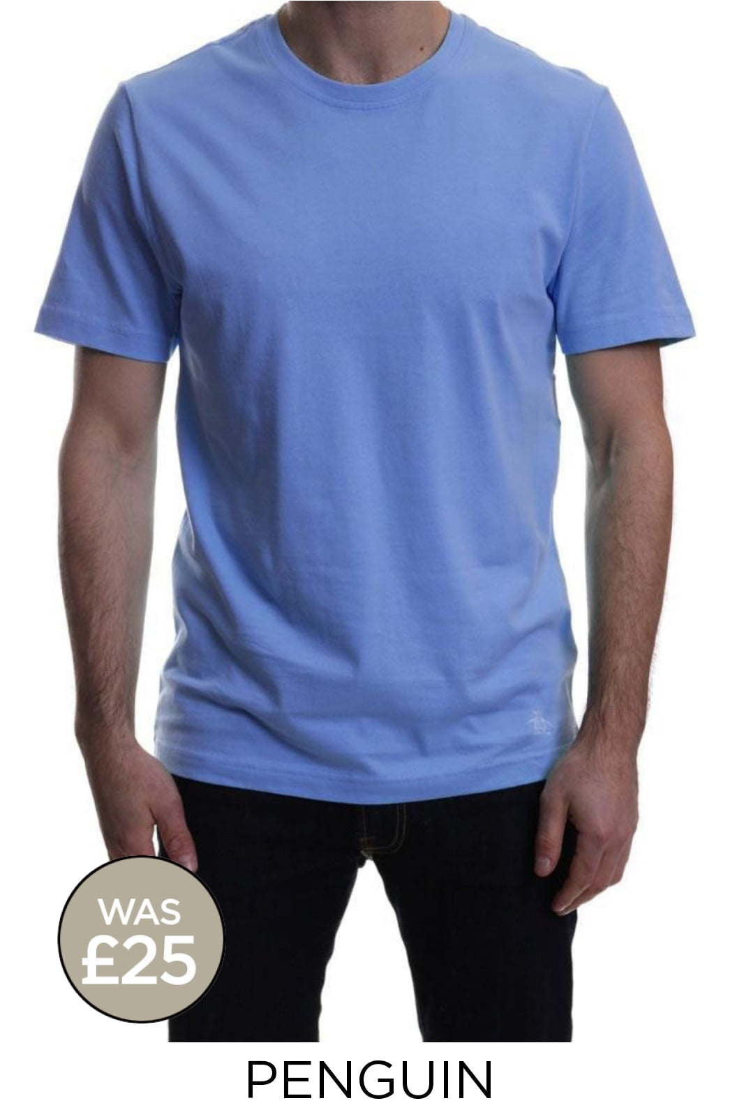 Penguin Original Pinpoint T-Shirts | XL / Corn Flower Blue Secret Label