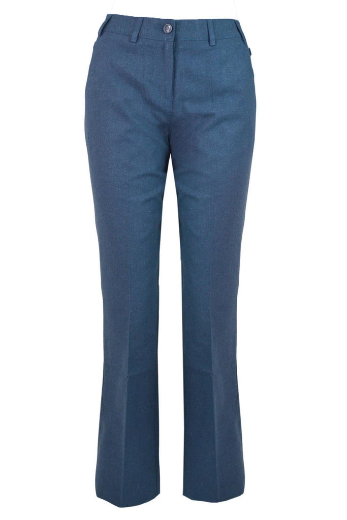 Steel Long Linen Trousers