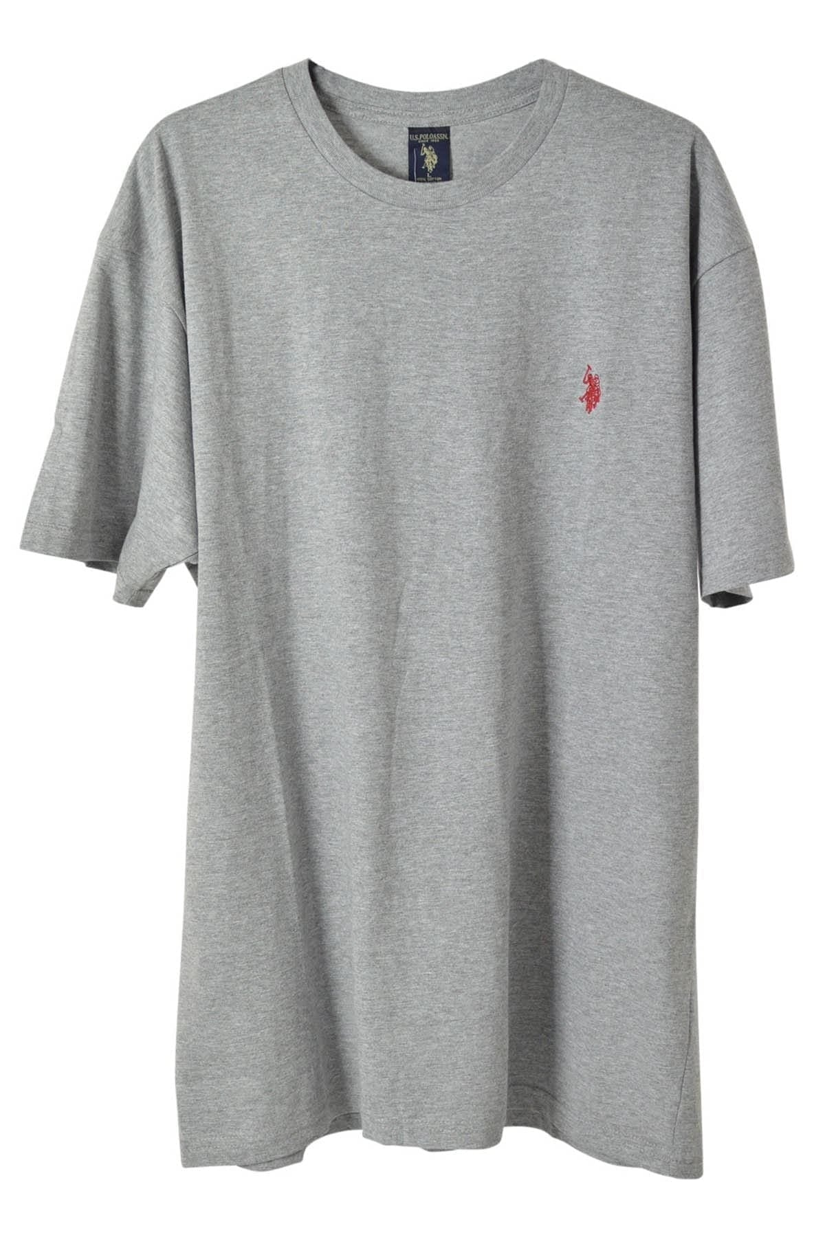 US Polo Assn. US Polo Assn. Cotton Crew Neck T-Shirt | Large / Charcoal Grey Secret Label