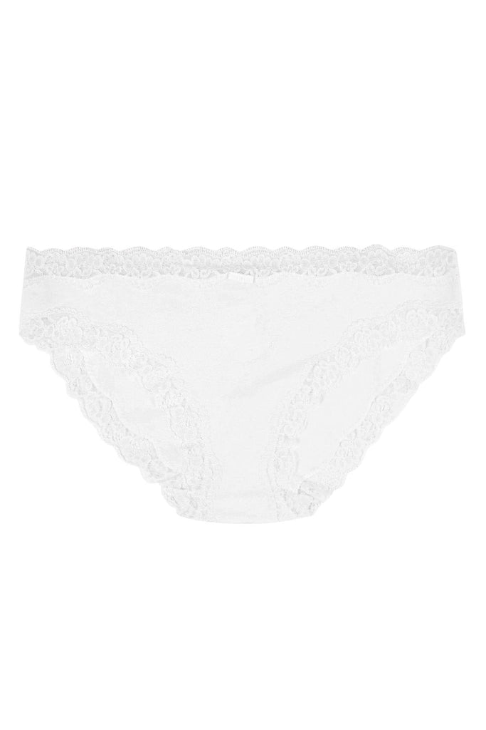 Lace Knickers Black and White (4 Pack)