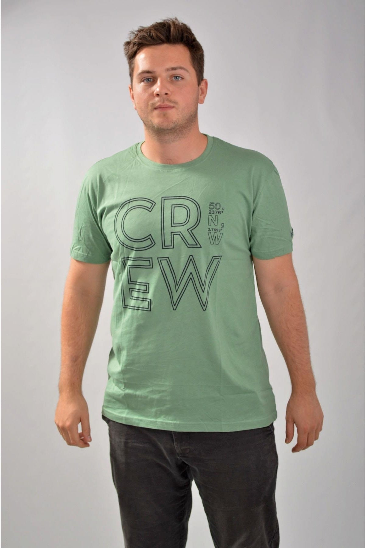 Crew Clothing Crew Clothing Mens Crew Logo T-Shirts | S / Green (Degrees) Secret Label