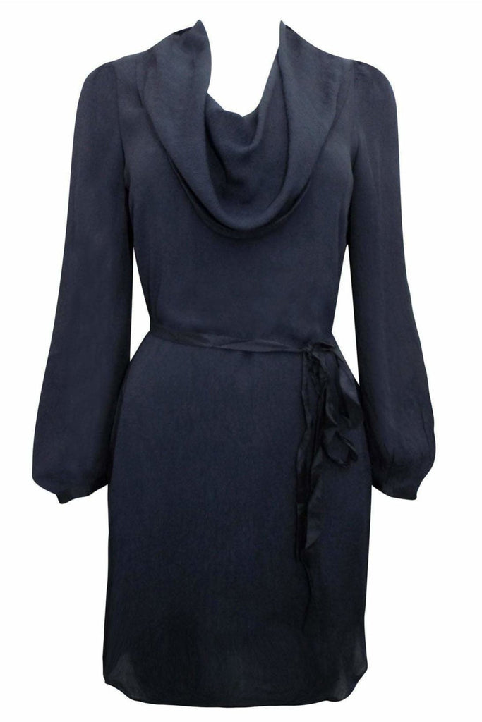 Crepe Cowl Neck Dress